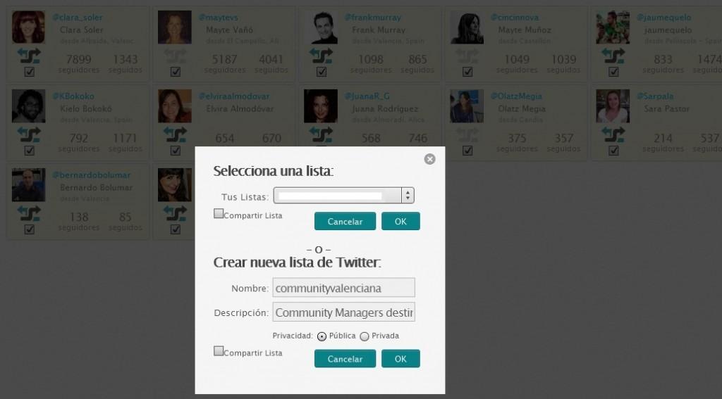 Añadir usuarios en bloque lista Twitter