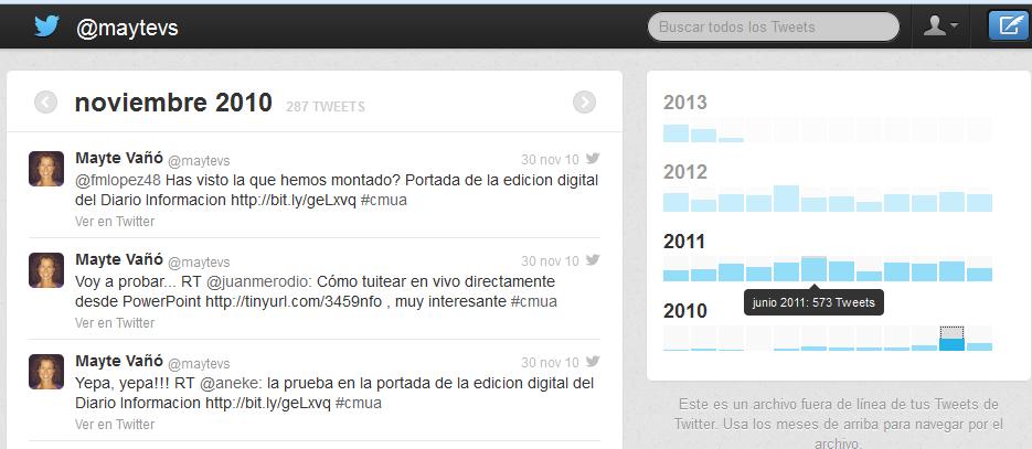 Timeline @maytevs