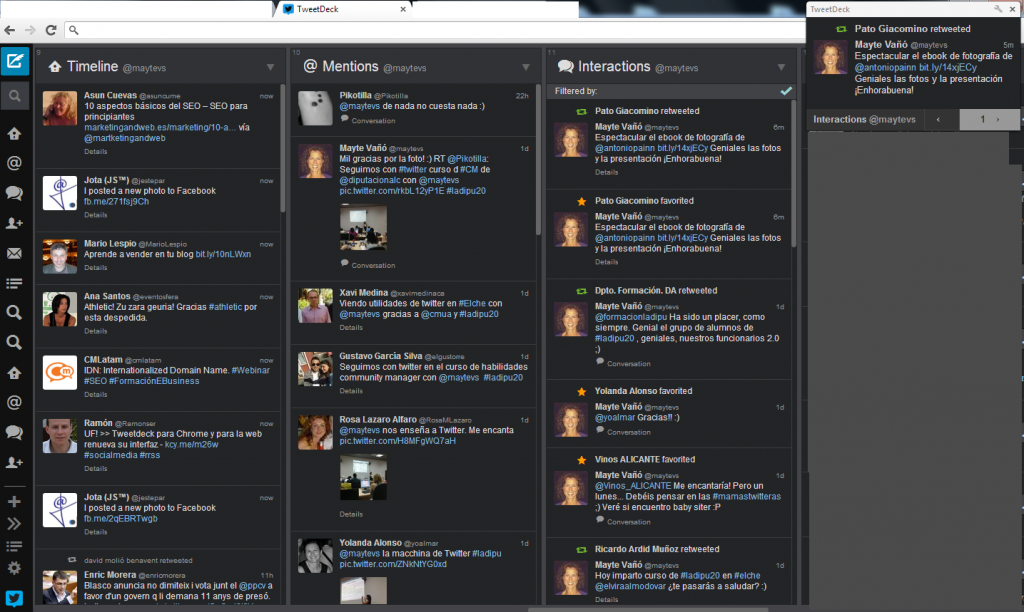 notificacion TweetDeck