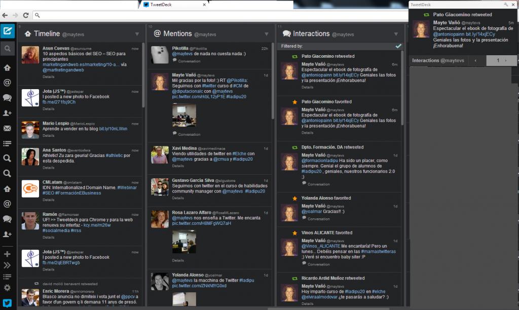notificacion TweetDeck