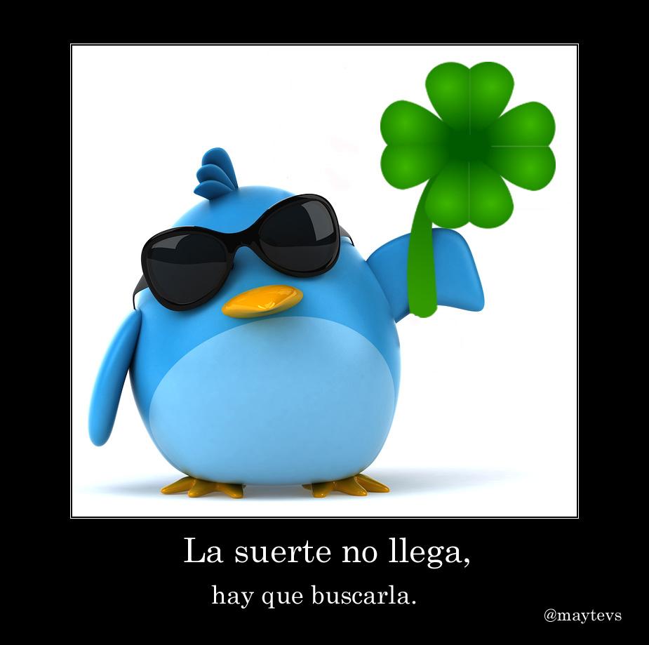 twitter suerte @maytevs