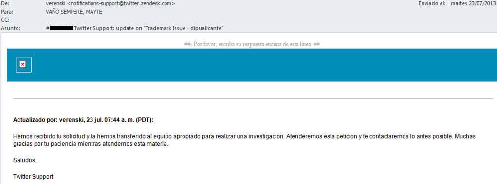 Respuesta 2 Twitter reclamacion nombre usuario @diputalicante