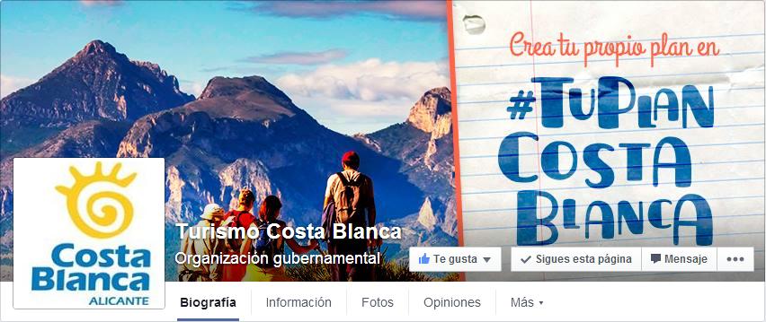 Nueva página Facebook Turismo Costa Blanca