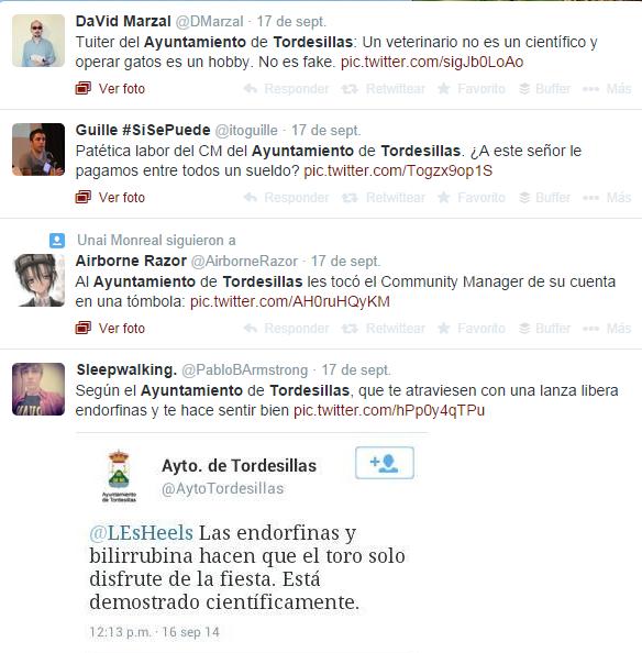 Comantarios Twitter Ayuntamiento Tordesillas