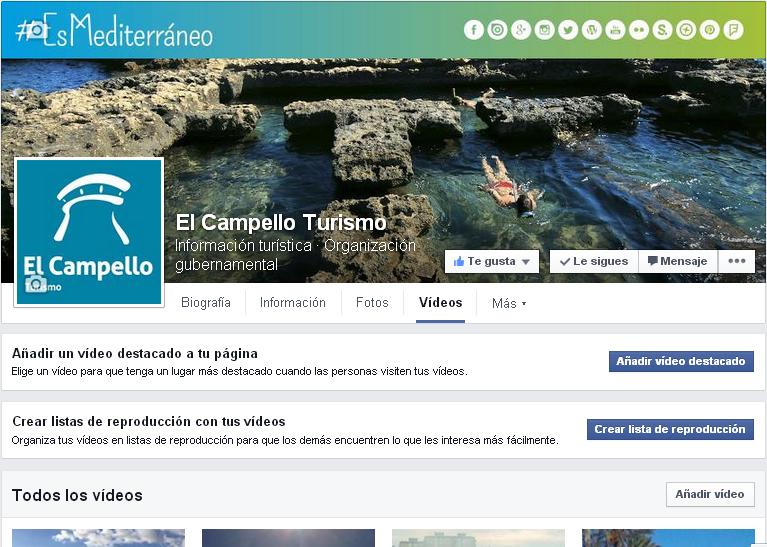 Posibilidades personalizacion pestaña videos Facebook