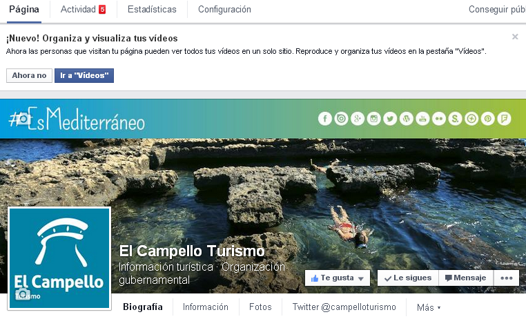 Añadir pestaña de vídeos en Facebook