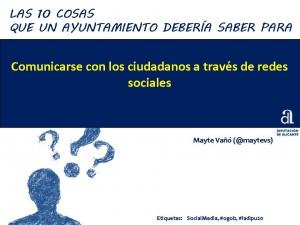 10 consejos Ayuntamientos Redes Sociales