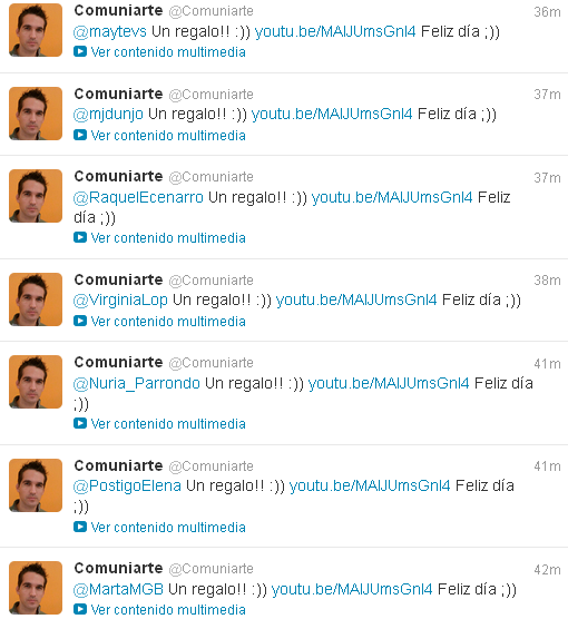spam en Twitter by maytevs