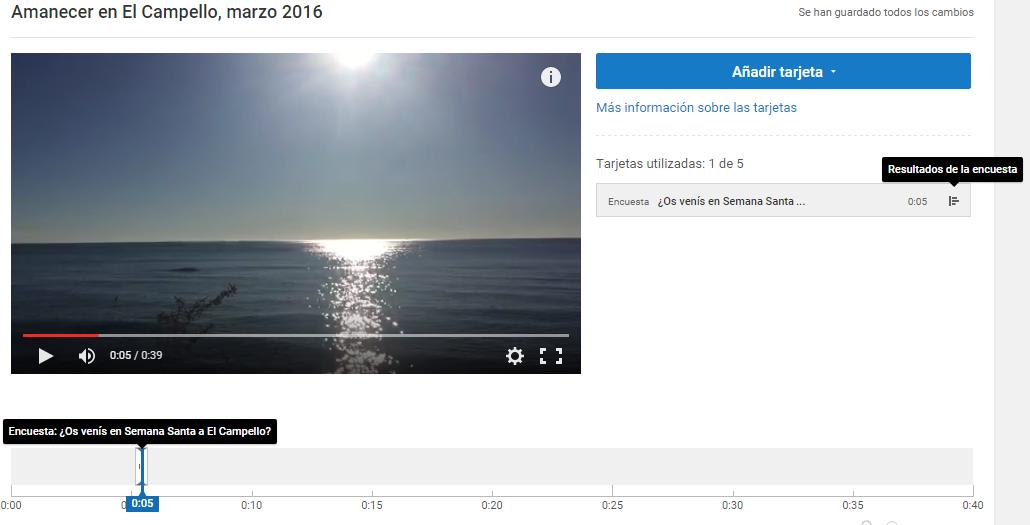 Consultar resultados encuesta vídeo Youtube
