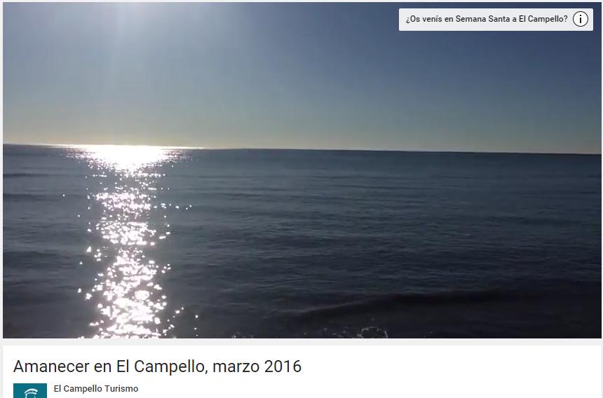 Encuesta Youtube vídeo El Campello Turismo
