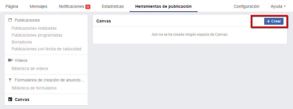 Crear Canvas Facebook