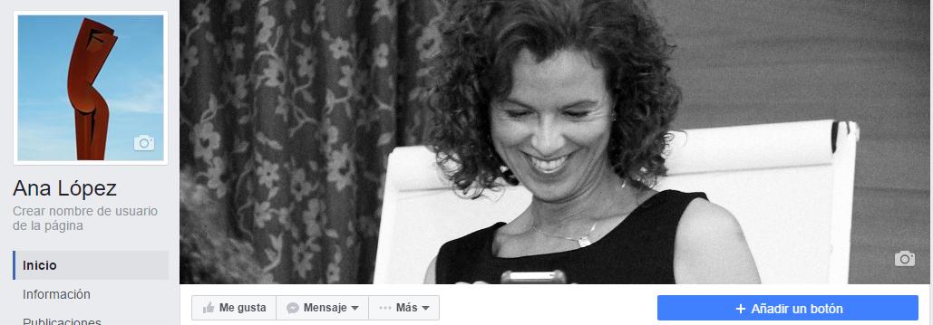 Página Facebook tras migración