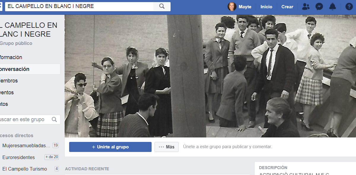 Grupo público Facebook