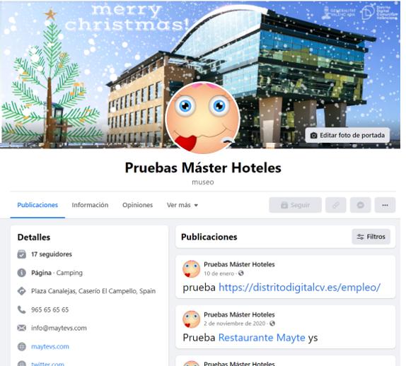 Nuevas páginas Facebook 2021